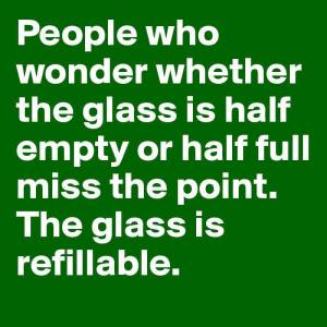 glass half full